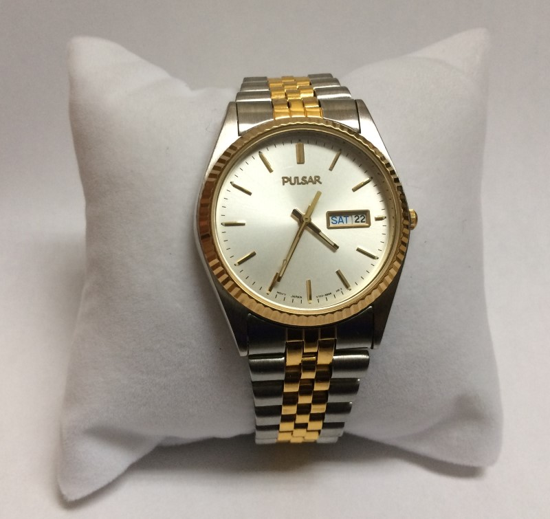 Men's Pulsar Two-Tone Stainless Steel Watch V733-8A60