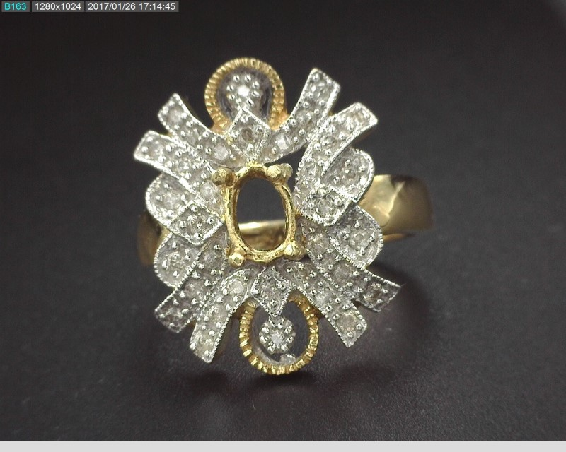 14KYG DIAMOND MOUNTING 5.7G SZ7.5