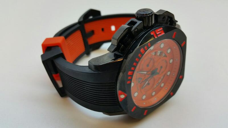 SWISS LEGEND WRISTWATCH SCOUBADOR ORANGE AND BLACK]