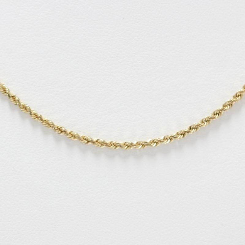 """Unisex 16"""" 14K Yellow Gold Rope Chain"""