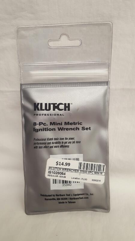 KLUTCH 35940 8PC MINI METRIC IGNITION WRENCH SET