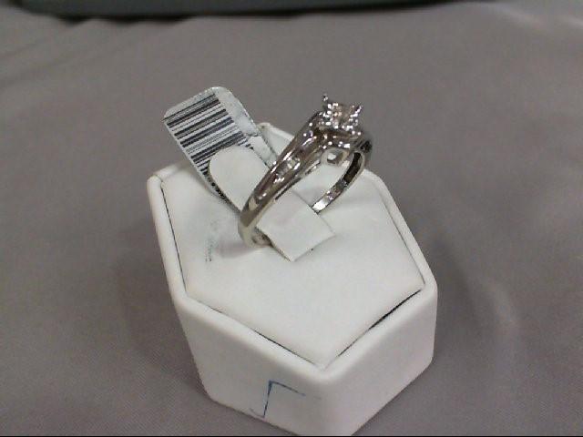 Lady's Diamond Engagement Ring .01 CT. 10K White Gold 2.03g