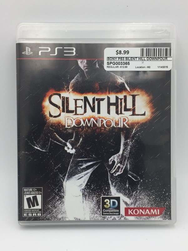 SONY Sony PlayStation 3 Game SILENT HILL DOWNPOUR 3D Compatible