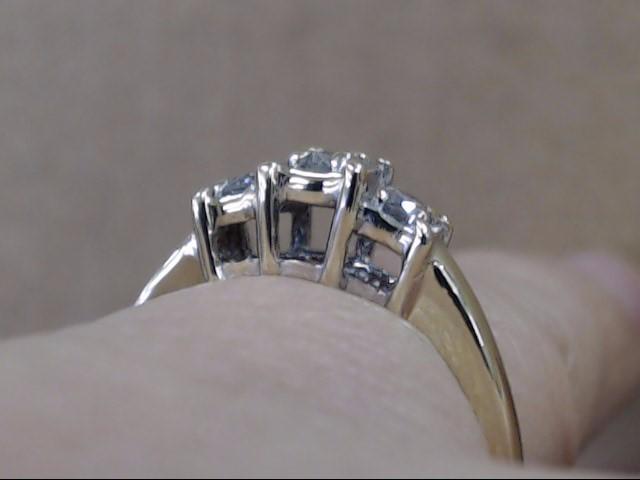 3 NATURAL DIAMOND ENGAGEMENT WEDDING RING REAL 14K GOLD 2.9g SIZE 7