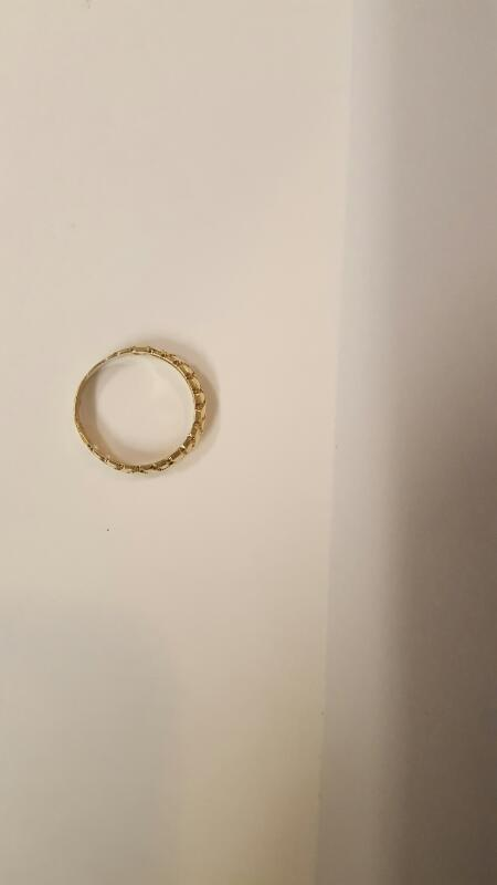 Lady's Gold Ring 10K Yellow Gold 2.34g Size:7