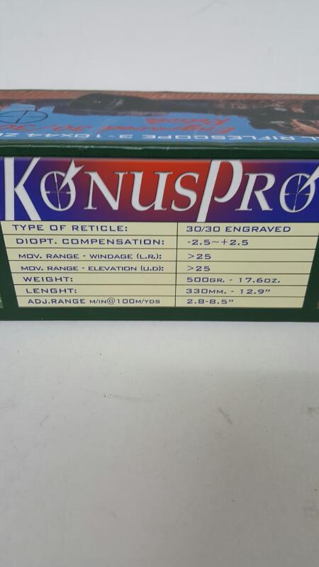 Konus KonusPro 3-10X44 Riflescope 30/30 Reticle