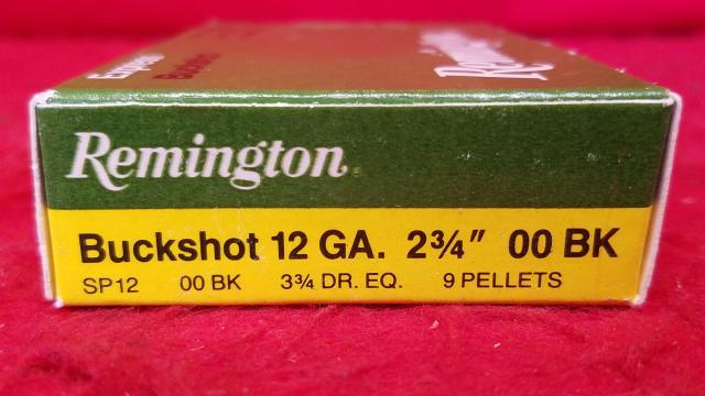 "Remington 12ga 00 Buckshot - 2-3/4"" Shells - 5 Rounds"