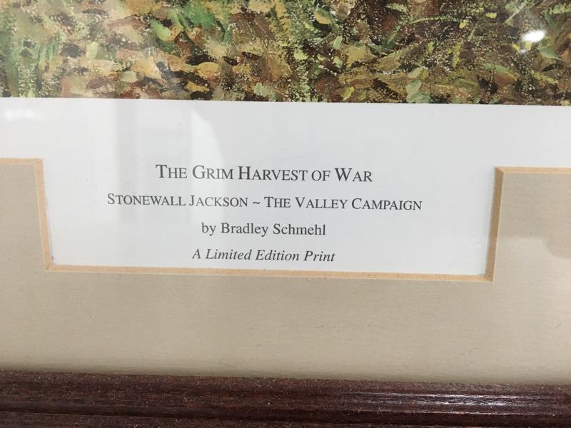 "Bradley Schmehl ""The Grim Harvest Of War"" The Valley Campaign Print"