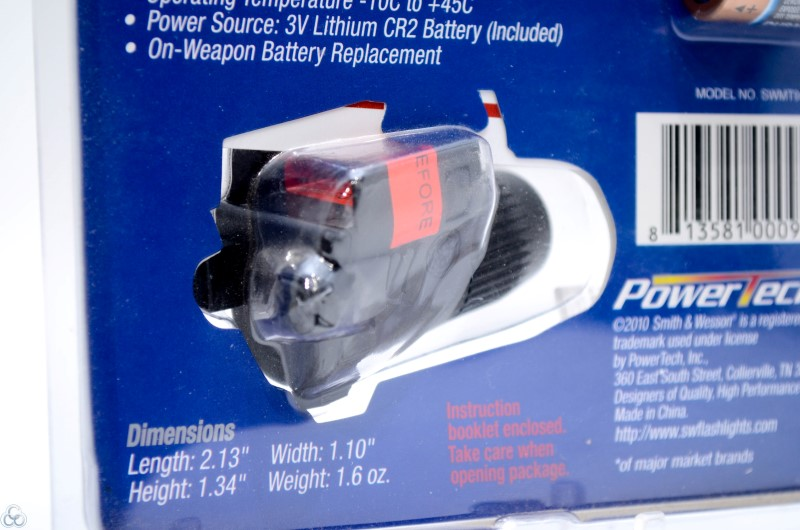 Smith & Wesson Micro 90 Compact LED Pistol Light-In Package