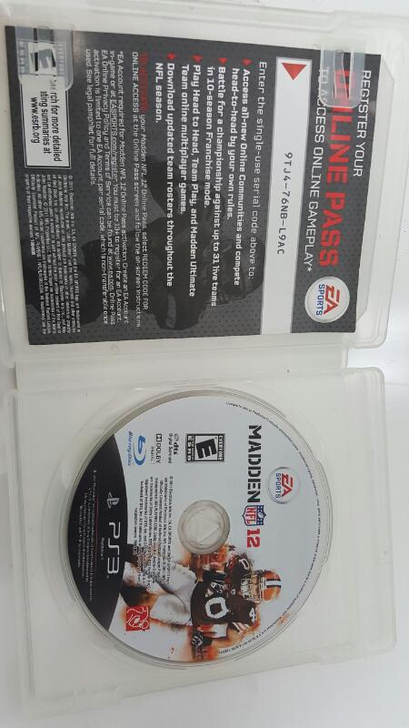 Sony PlayStation 3 Game MADDEN NFL 12 - PS3