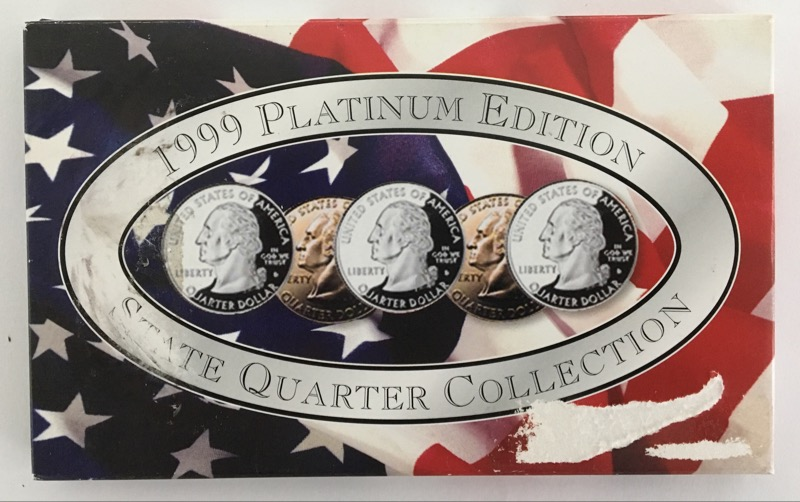 UNITED STATES MINT SET 1999 PLATINUM EDITION STATE QUARTER COLLECTION