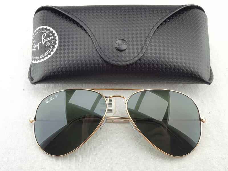 RAY-BAN RB3025 AVIATOR POLORIZED SUNGLASSES w/Case