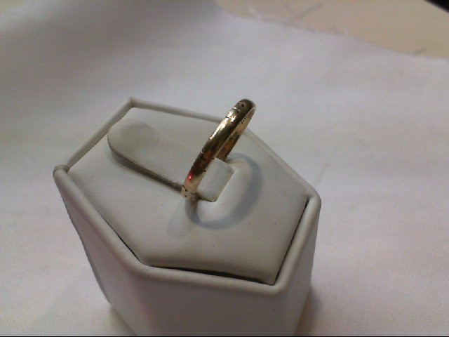 Lady's Gold Wedding Band 14K Yellow Gold 1.3g