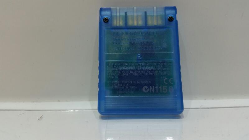 Genuine Sony Playstation 2 PS2 Original OEM 8MB Memory Card (Clear Blue)