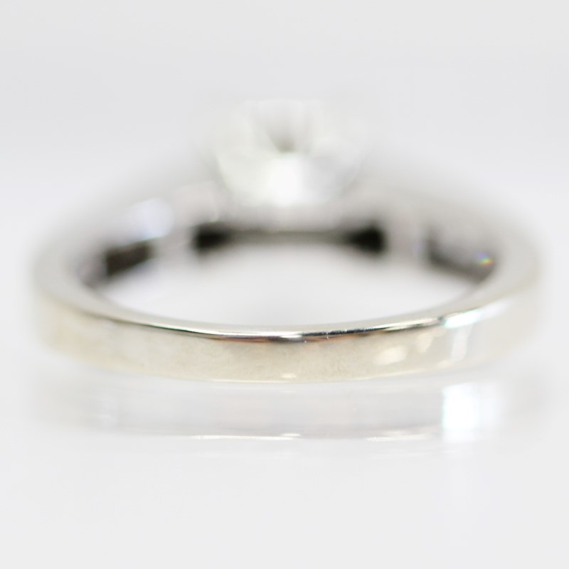 14K White Gold Cluster & Channel Princess Cut Diamond Ring Size 7.5