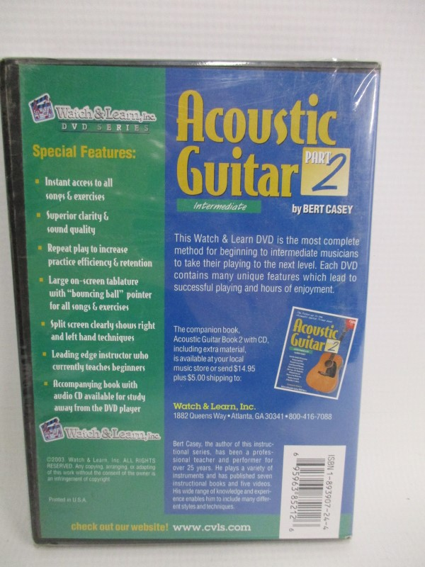 WATCH AND LEARN DVD SERIES ACOUSTIC GUITAR PART 2