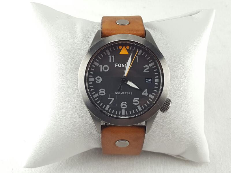 FOSSIL AEROFLITE BROWN LEATHER WATCH AM4561