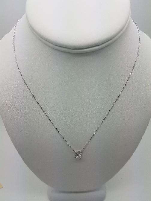 "16"" Diamond Necklace .85 CT. 14K White Gold 1.2dwt"