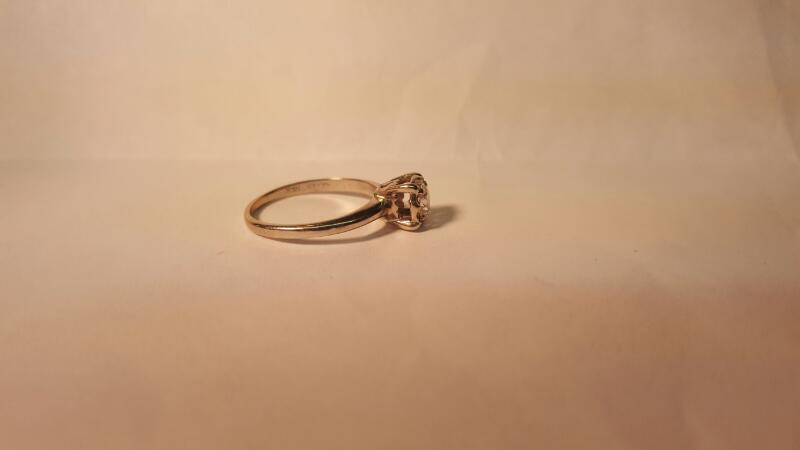 Lady's Diamond Engagement Ring .50 CT. 14K White Gold 2.17g Size:6.8