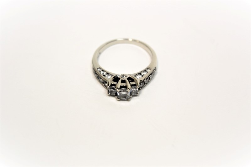 Lady's Diamond Fashion Ring 25 Diamonds 1.59 Carat T.W. 14K White Gold 4.2g