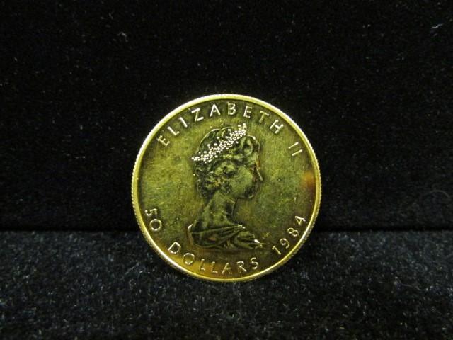 CANADA Gold Coin 1984 MAPLE LEAF 50 DOLLAR