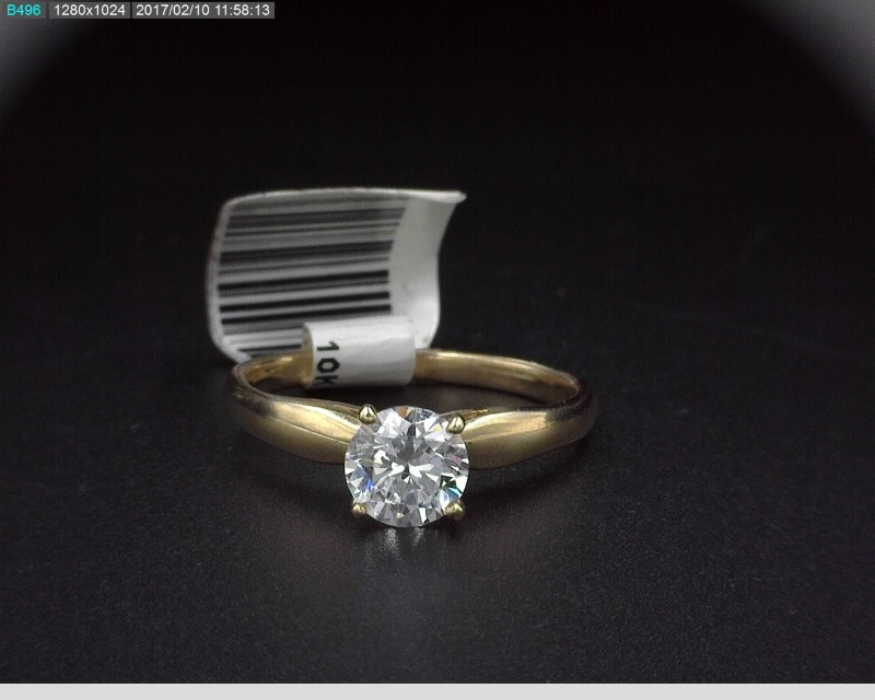 CUBIC ZIRCONIA SOLITAIRE IN 10K YELLOW GOLD SZ.7 2G
