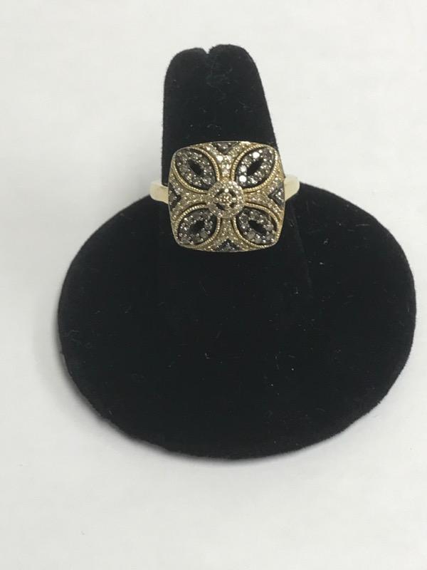 Lady's Diamond Fashion Ring 81 Diamonds .84 Carat T.W. 14K Yellow Gold 3.1dwt