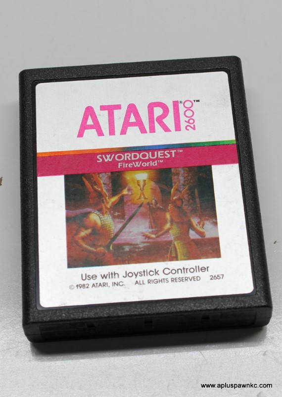 Vintage ATARI SWORDQUEST FIREWORLD