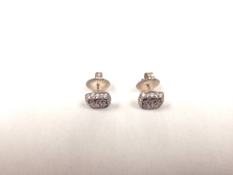 Jared Lois Hill 3/8 ct tw Diamond Silver and 10 kt. earrings