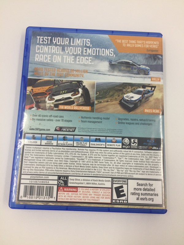 SONY Sony PlayStation 4 Game DIRT RALLY