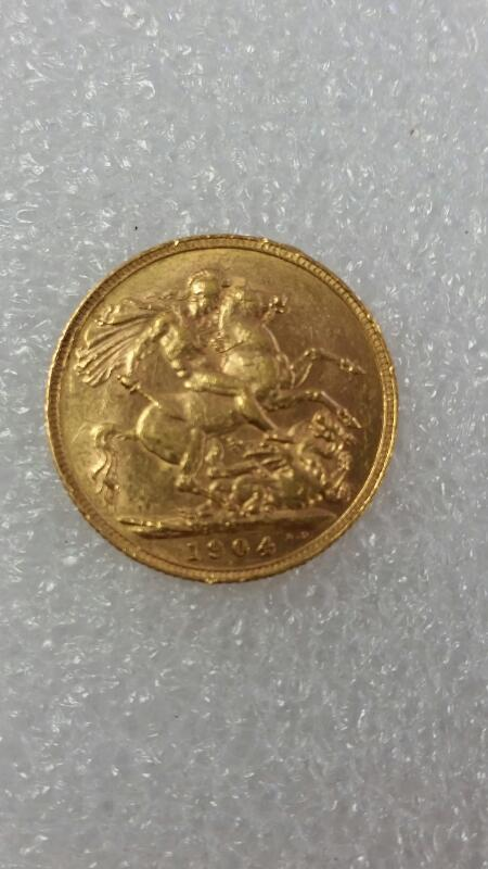 AUSTRALIA GOLD COIN 1904 GOLD SOVEREIGN - KING EDWARD VII - S