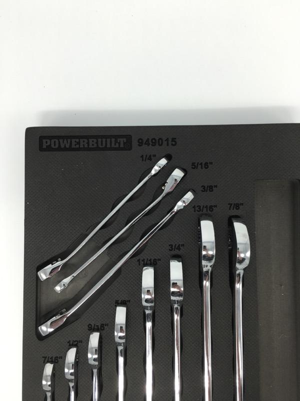 POWERBUILT 949015 reversible ratcheting wrench 11 piece set
