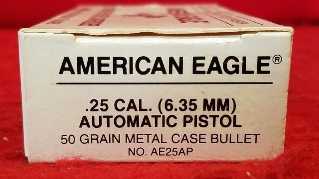 American Eagle 25acp (6.35mm) 50gr Ammo - 50 Rounds