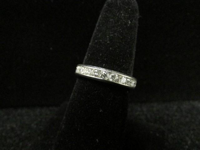 Lady's Gold-Diamond Anniversary Ring 14 Diamonds 1.12 Carat T.W. 10K White Gold
