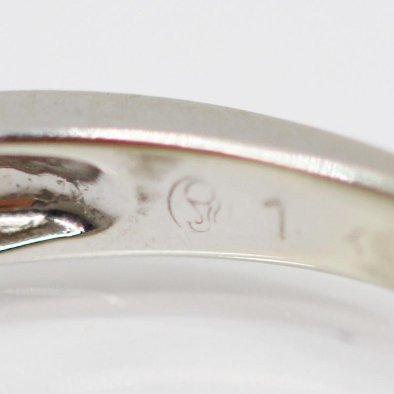 14K White Gold Round Brilliant Diamond Engagement Ring Size 5.5