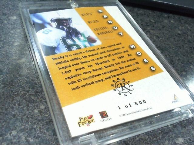 RANDY MOSS Autograph Card