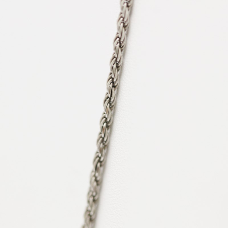 Sterling Silver Dogwood Pendant and Braided Sterling Silver Chain