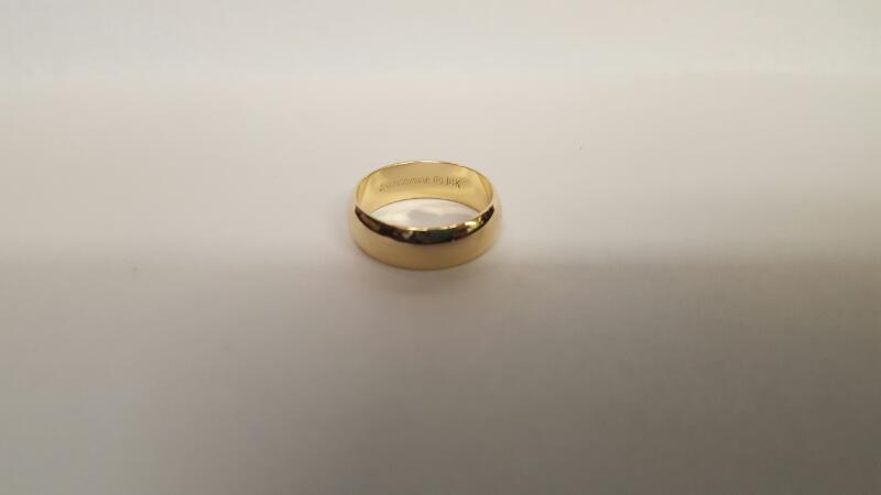 Gent's Gold Wedding Band 14K Yellow Gold 5.15g Size:7