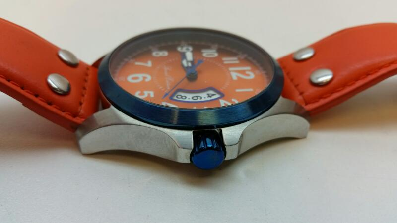 INVICTA ORANGE SPECIAL EDITION 18663 WRISTWATCH LEATHER WATER RESISTANT]