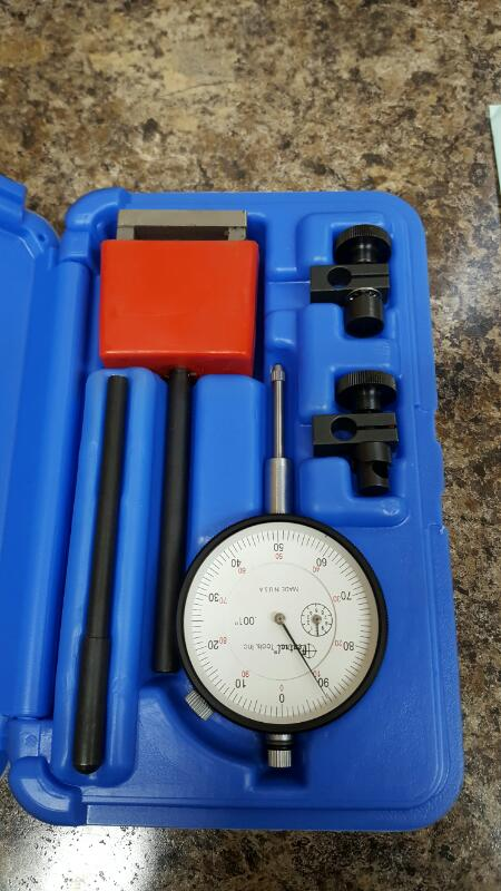 "Central Tools 1"" Range Dial Indicator Magnetic Base Set 6410 USA .001"""