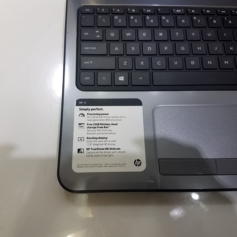 """HP 15-G019WM 15.6"""" Laptop 500GB HDD 4GB RAM AMD 1.0ghz Win8"""