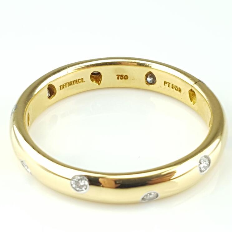 Tiffany & Co. Etoile 18K Gold-Diamond Wedding Band .30cttw(PB1003411)