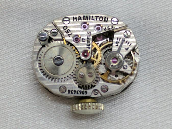 Hamilton Ladies 14k Wristwatch Art Deco .30 TCW in Diamonds