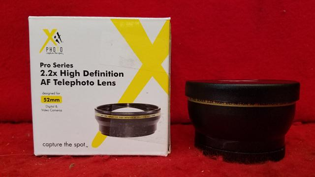 Xit Xt2x52 52mm 22x Telephoto Lens Black Like New Sooner State