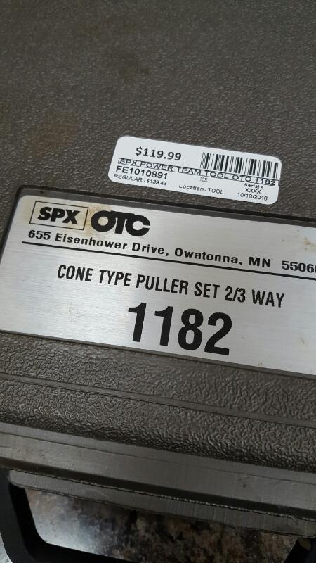 SPX OTC 1182 Cone Type Puller Set 2/3 Way
