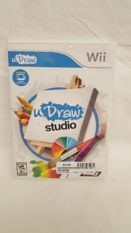 Nintendo Wii Game U DRAW STUDIO - GAME ONLY