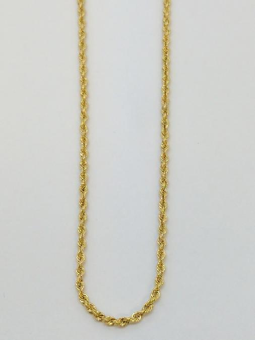 """24"""" Gold Rope Chain 18K Yellow Gold 6.6g"""
