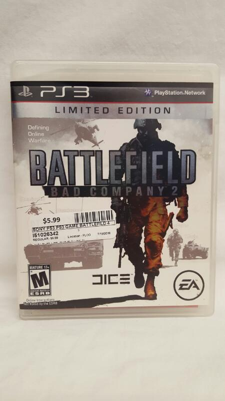 Sony PlayStation 3 Game BATTLEFIELD BAD COMPANY 2