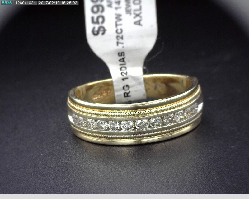MEN'S DIAMOND WEDDING BAND APX.72C.T.W 14KYG 6.7G SZ9.5