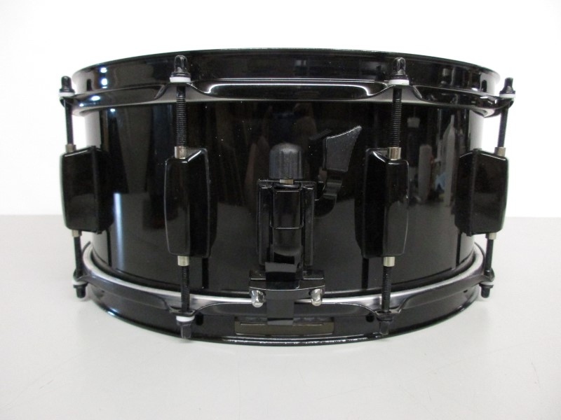 "BATTLEFIELD DRUM COMPANY 6x14"" STEEL SNARE, BLACK"